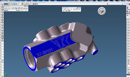 GibbsCAM Cut Part Rendering to verify toolpath, check surface finish, and test for unwanted cuts or gouging