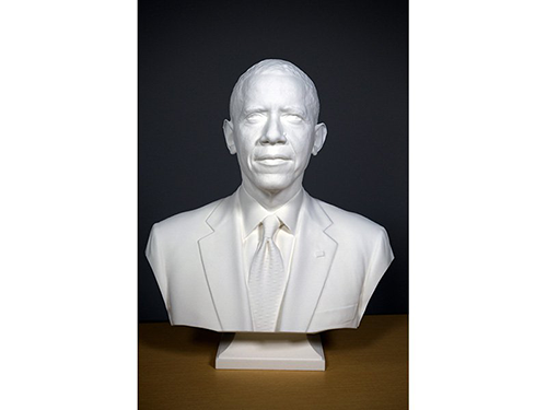 president obama's 3D printed bust by 3D Systems