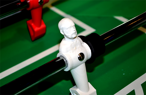 Final image of a 3D Printed foosball player
