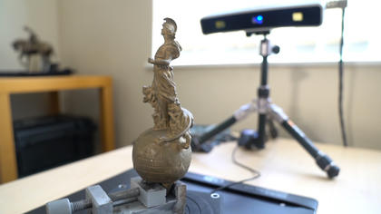 3D scanning the Britannia mascot for reproduction using a reverse engineering workflow